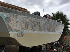 Transom Repair & Refinishing | Image 2 | Bulletproof Marine Services
